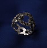 Stříbrný prsten s markazitem PM010