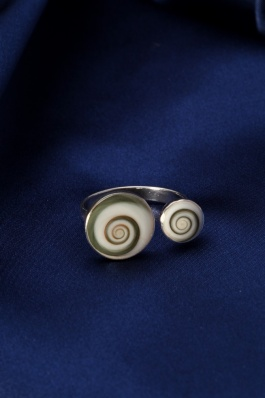 Stříbrný prsten s perletí PB010