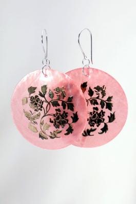 Perleťové náušnice NB043 růžové