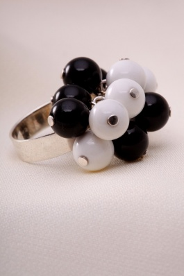 Stříbrný prsten s achátem PK001