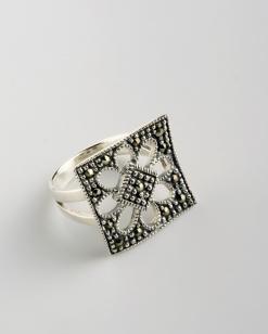 Stříbrný prsten s markazitem PM001