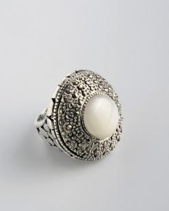 Stříbrný prsten s markazitem PM011