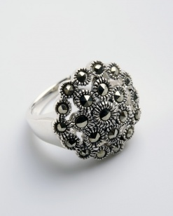 Stříbrný prsten s markazitem PM012