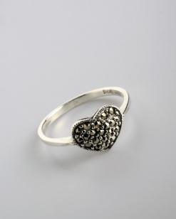 Stříbrný prsten s markazitem PM014