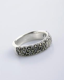 Stříbrný prsten s markazitem PM017
