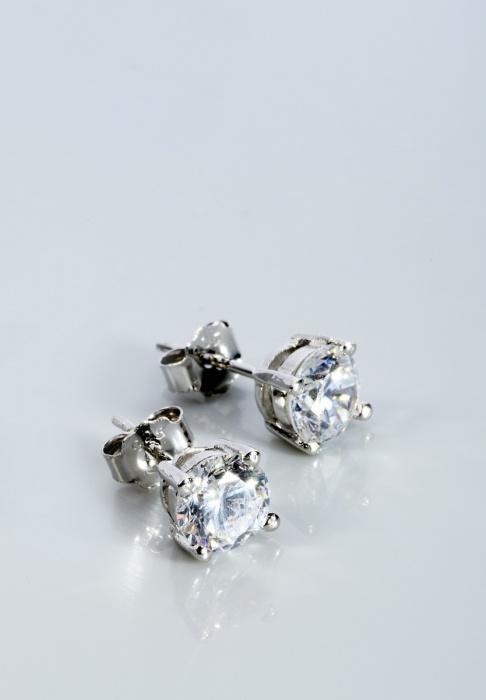 Stříbrné náušnice s kubickými zirkony NK031  407936c52e6