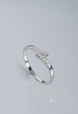 Stříbrný prsten s kubickými zirkony PK056