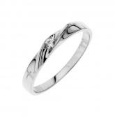 Stříbrný prsten s kubickým zirkonem PK058