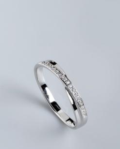 Stříbrný prsten s kubickými zirkony PK057