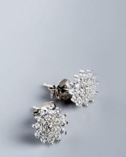 Stříbrné náušnice s kubickými zirkony NK047