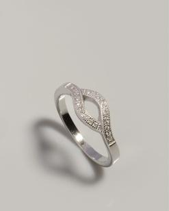 Stříbrný prsten s kubickými zirkony PK064