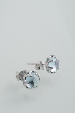 Stříbrné náušnice s topazem NK048