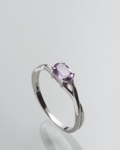Stříbrný prsten s ametystem PK071