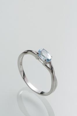 Stříbrný prsten s topazem PK073