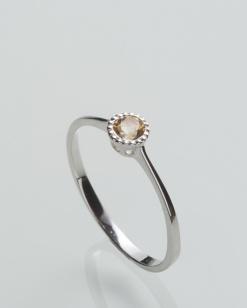 Stříbrný prsten s citrínem PK074