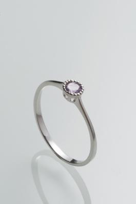 Stříbrný prsten s ametystem PK077