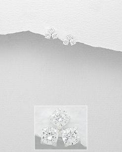 Stříbrné náušnice s kubickými zirkony NK051