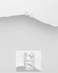 Stříbrné náušnice s kubickými zirkony NK052