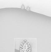 Stříbrné náušnice s kubickými zirkony NK057