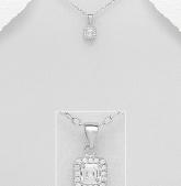 Stříbrný přívěsek s kubickými zirkony PVK007