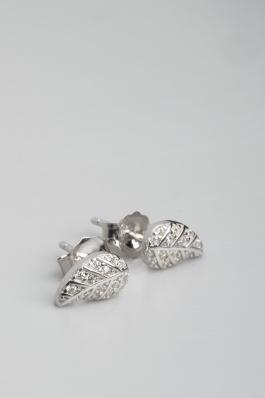 Stříbrné náušnice s kubickými zirkony NK056