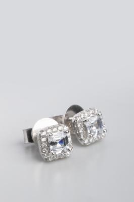 Stříbrné náušnice s kubickými zirkony NK054